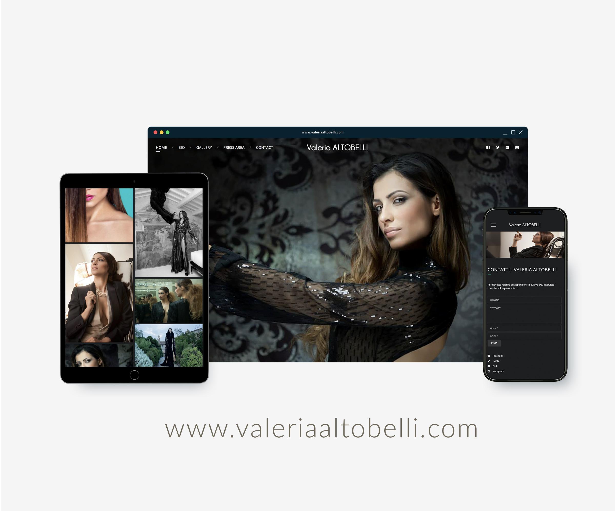 valeria altobella web site